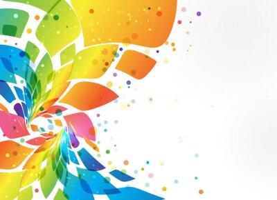 Sticker Abstrait arrière-plan, élément coloré sur fond blanc