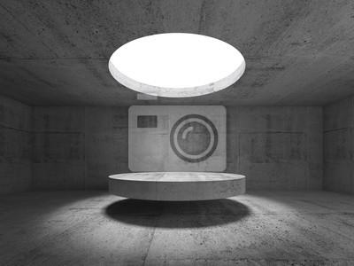 Abstrait béton vide intérieur, salle d'exposition