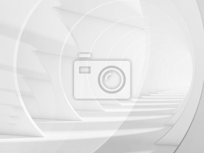 Abstrait de tunnel blanc minimaliste