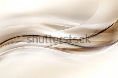 Sticker Abstrait Design Brown Wave