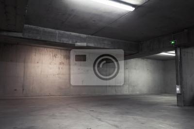 Abstrait garage vide intérieur, arrière-plan