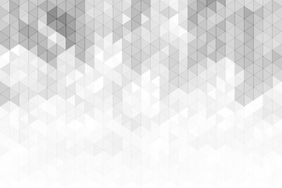 Sticker Abstrait géométrique avec des formes de triangle de couleur gris et blanc.