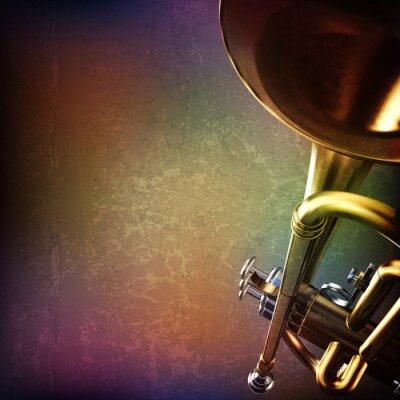 Sticker abstrait grunge avec trompette