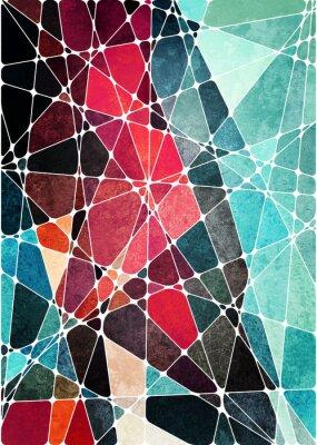 Sticker abstrait grunge géométrique