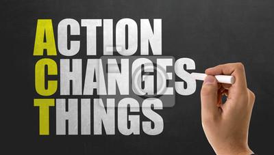 Sticker ACT - L'action change les choses