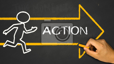 Sticker action concept