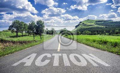Sticker Action sur la route