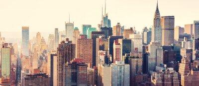 Sticker Aérien, vue, nouveau, York, ville, Horizon