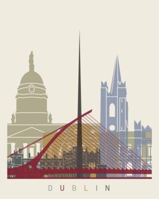 Sticker Affiche de l'horizon de Dublin