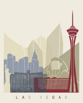 Sticker Affiche de l'horizon de Las Vegas