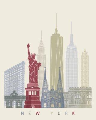 Sticker Affiche de l'horizon de New York