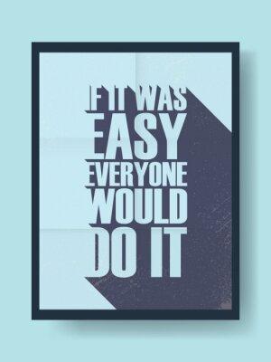 Sticker Affiche de motivation d'affaires sur le travail dur contre la paresse sur le fond de vecteur vintage. Message de typographie d'ombre longue