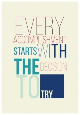 Sticker Affiche de motivation pour un bon début