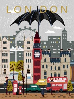 Sticker Affiche de voyage du Royaume-Uni