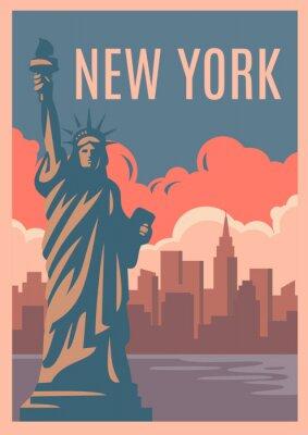 Sticker Affiche rétro de New York.