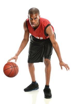 Sticker Africaine, Américain, basket-ball, joueur