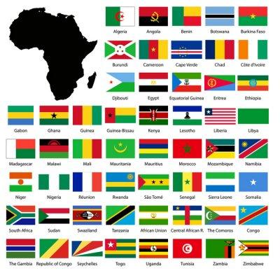 Sticker African flags