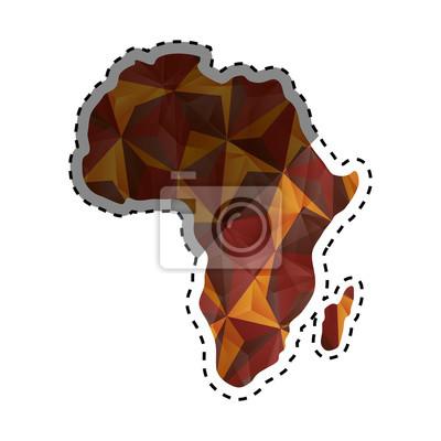 Carte Afrique Vectorielle.Sticker Afrique Carte Silhouette Icone Illustration Vectorielle Design