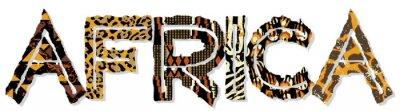 Sticker Afrique du patchwork de tissus et la peau textures