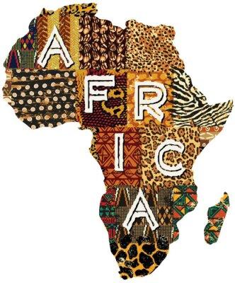 Sticker Afrique du vecteur de patchwork carte