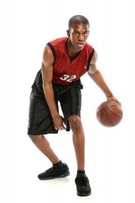Sticker Afro-américain de basket-ball joueur