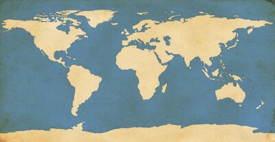 Sticker Âgés Carte du monde