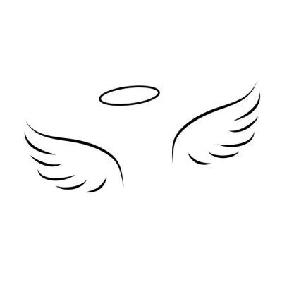 Aile D Ange ailes dange stickers pc portable • autocollants murales ailes d