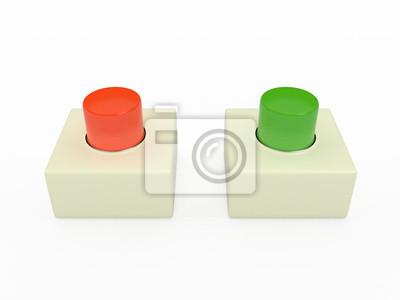 Alarme bouton-poussoir, 3D