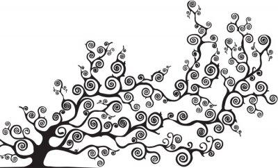 Sticker Albero con Rami curvi