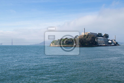 Alcatraz, île, océan, San, francisco, californie