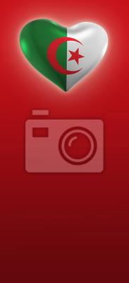 Algerie Drapeau algérie, drapeau algérien (3d render) stickers pc portable