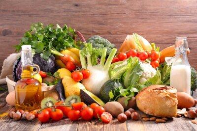 Sticker Alimentation équilibrée concept alimentaire