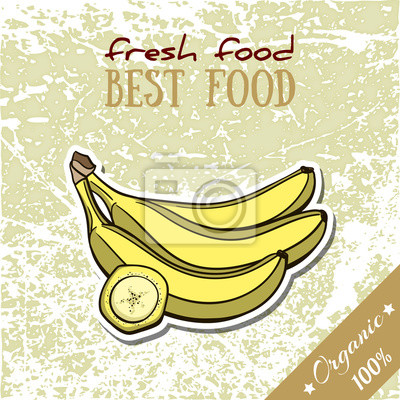 Sticker Alimentation saine Banane