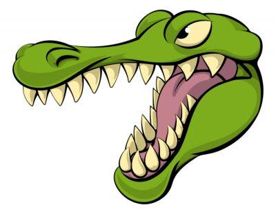 Sticker Alligator ou crocodile dessin animé caractère