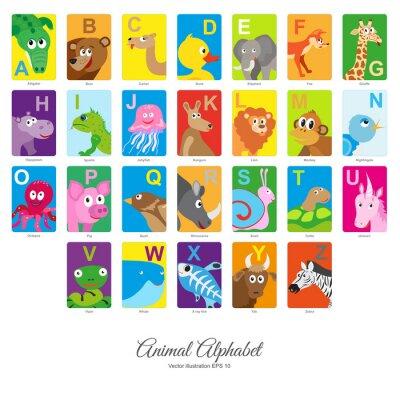 Sticker Alphabet animal plat