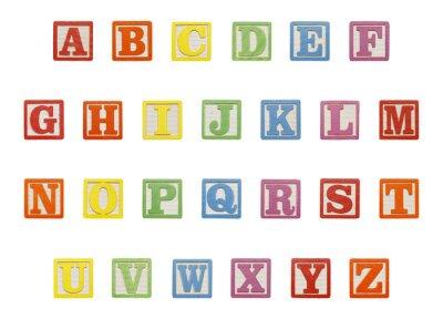 Sticker Alphabet blocs Top