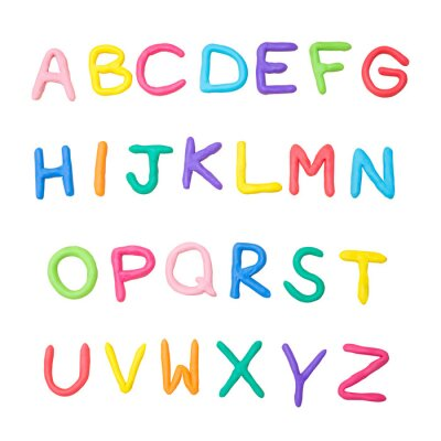 Sticker Alphabet coloré de a à z