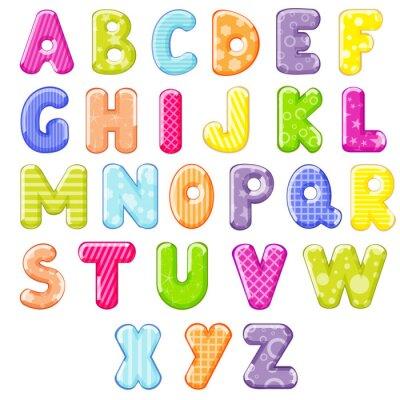 Sticker alphabet de bande dessinée