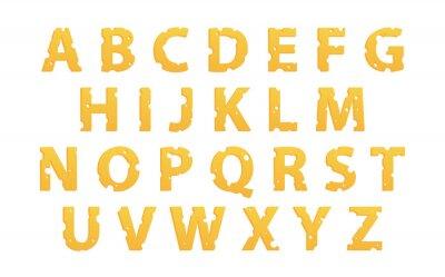 Sticker Alphabet fait de fromage