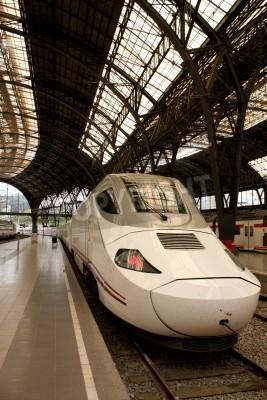 Sticker Alvia gare en France, Barcelone, Espagne