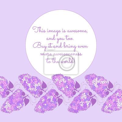 Amazing branches de fleurs lilas en violet couleurs