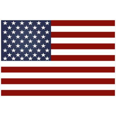 Amérique, drapeau, blanc, fond