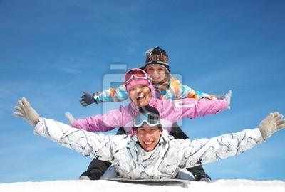 amis en hiver