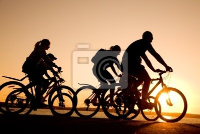 amis sur des vélos