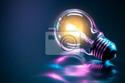 Sticker Ampoule Idée Concept