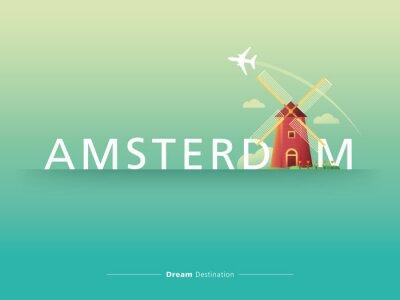 Sticker Amsterdam typographie