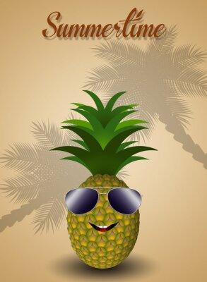 Sticker Ananas drôle pour l'été