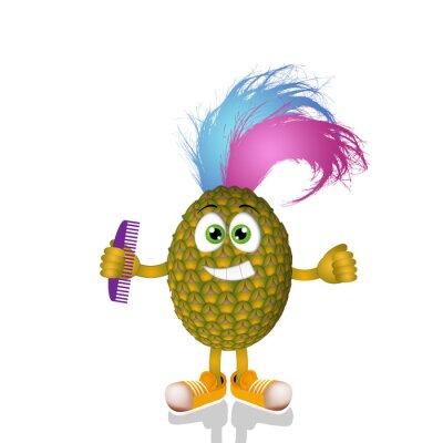 Sticker Ananas drôle punk