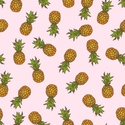 Sticker Ananas fond transparent.