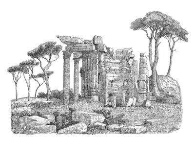 Sticker Ancien grec colonne illustration